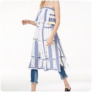 [Free People] Strapless Dress boho white
